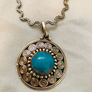 Sterling Silver Turquoise necklace from Greece